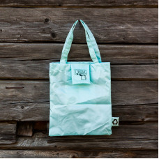 Light blue Shopper Bag with handle
